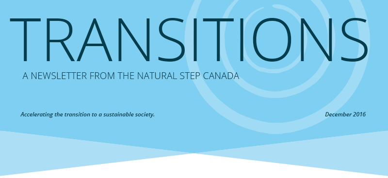 The Natural Step Canada December Newsletter